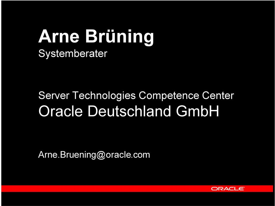 Competence Center Oracle