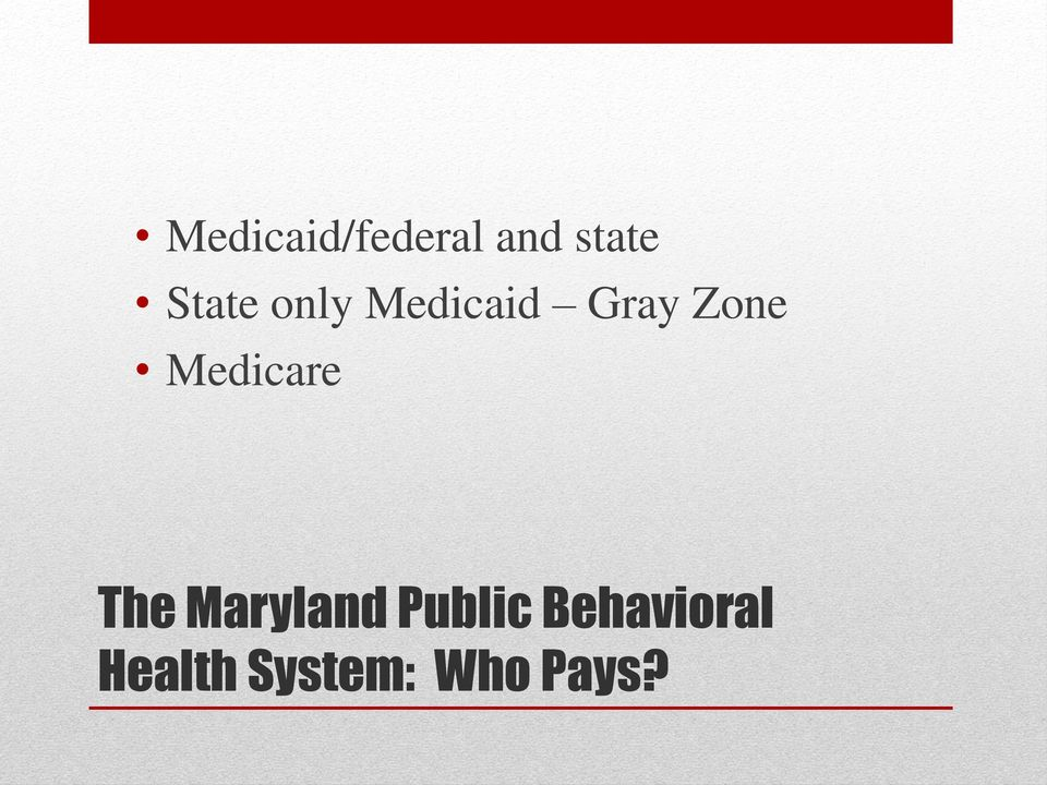 Medicare The Maryland Public