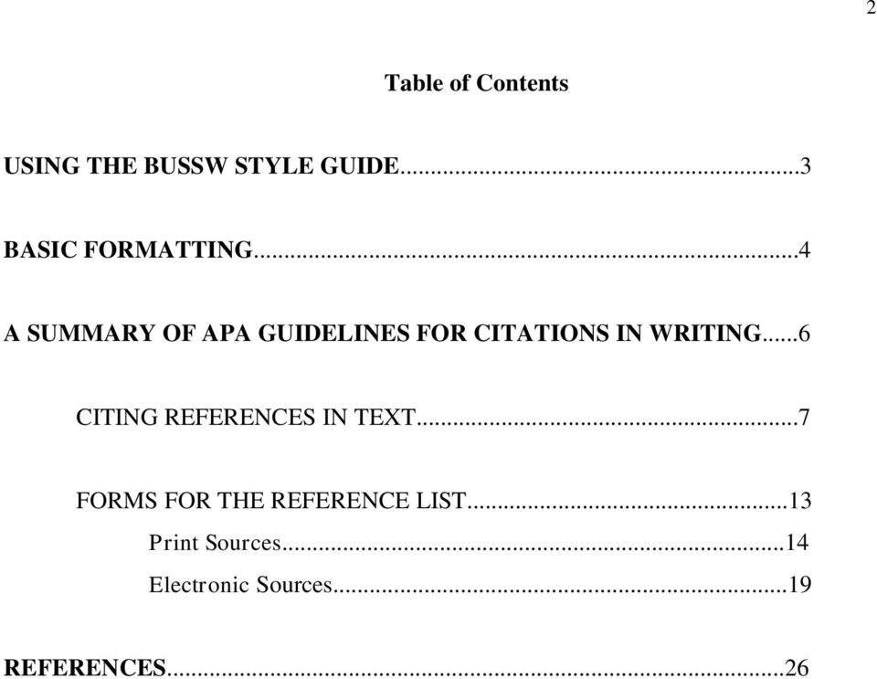 ..4 A SUMMARY OF APA GUIDELINES FOR CITATIONS IN WRITING.