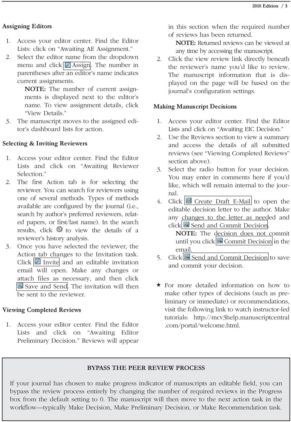 Journal Editor s Guide 2010 Edition Table of Contents - PDF