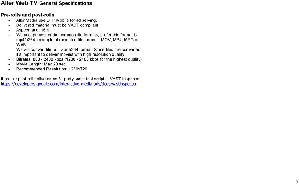 Technical Specifications Digital - PDF