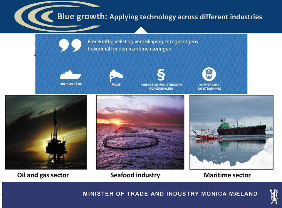 green future; 8 priorities Oil and gas sector Seafood