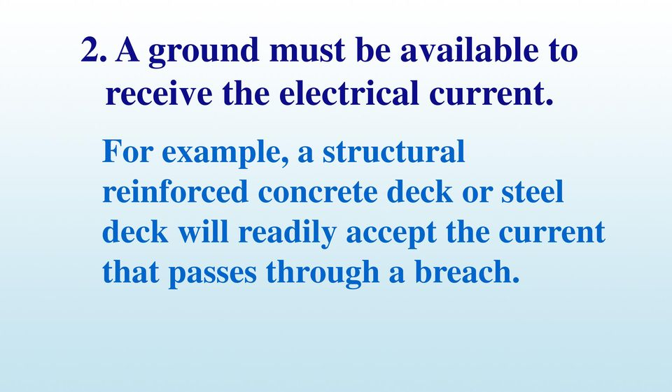 For example, a structural reinforced concrete