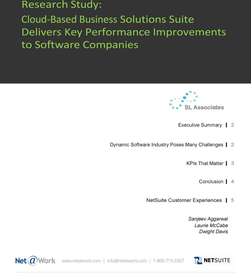 Industry Poses Many Challenges 2 KPIs That Matter 3 Conclusion 4 NetSuite Customer