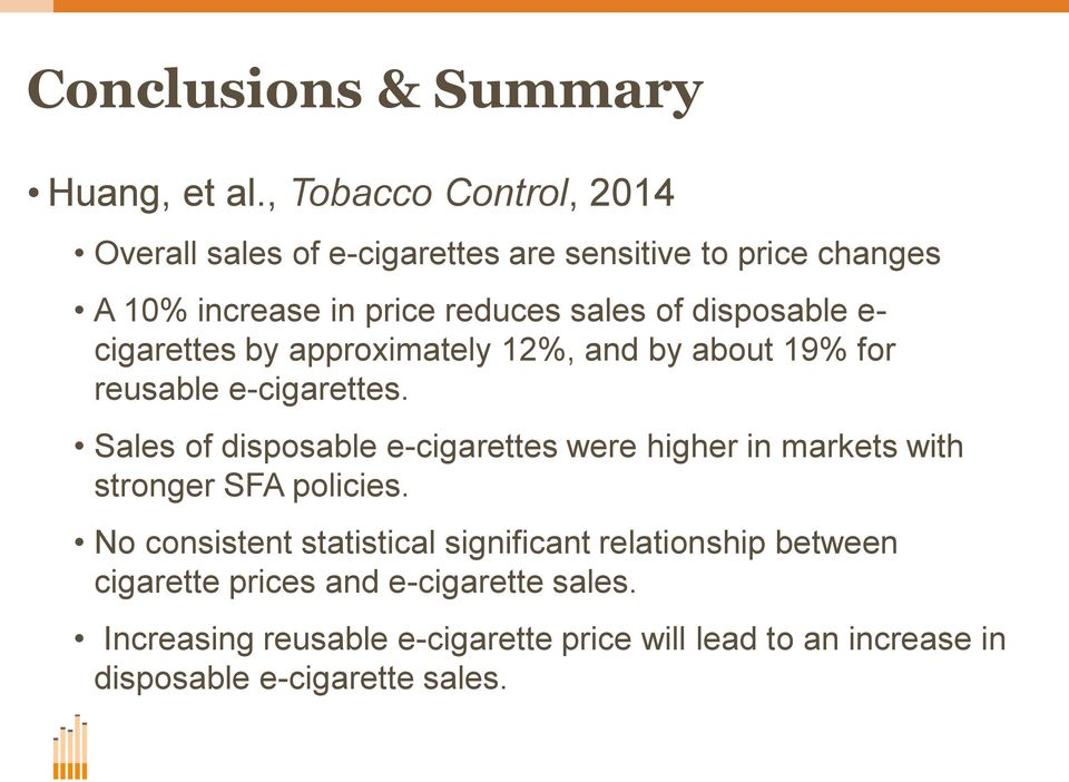 disposable e- cigarettes by approximately 12%, and by about 19% for reusable e-cigarettes.