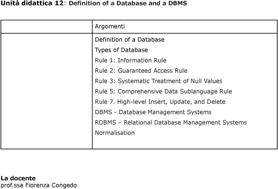 Comprehensive Data Sublanguage Rule Rule 7.