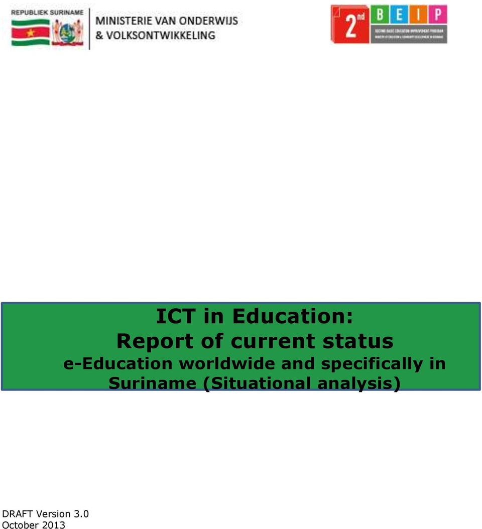 Report of current status e-education