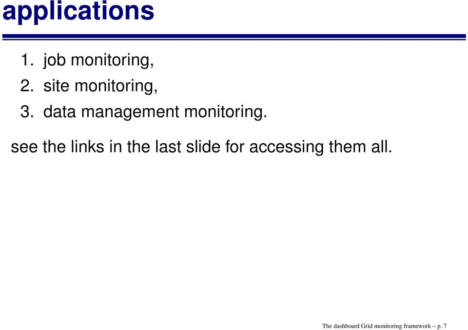 data management monitoring.