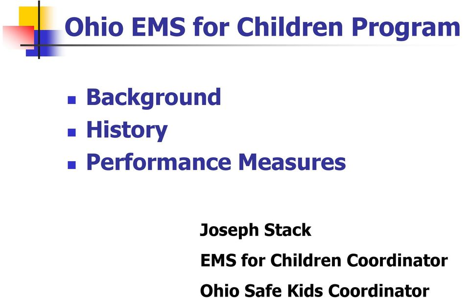 Measures Joseph Stack EMS for
