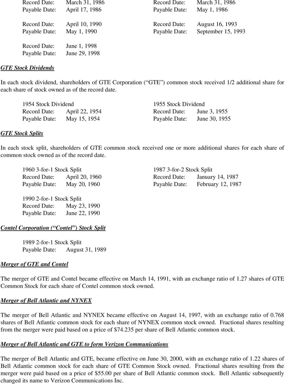 worksheet At&t Cost Basis Worksheet determining your tax basis in shares of verizon communications inc additional share for each stock owned as the record date