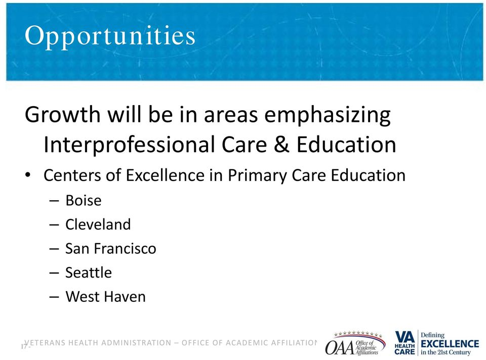 Primary Care Education Boise Cleveland San Francisco Seattle