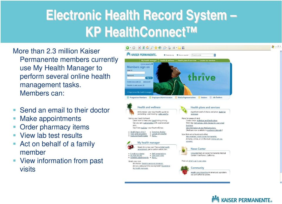 online health management tasks.