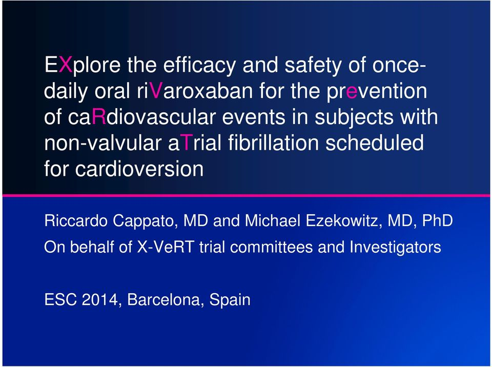 fibrillation scheduled for cardioversion Riccardo Cappato, MD and Michael