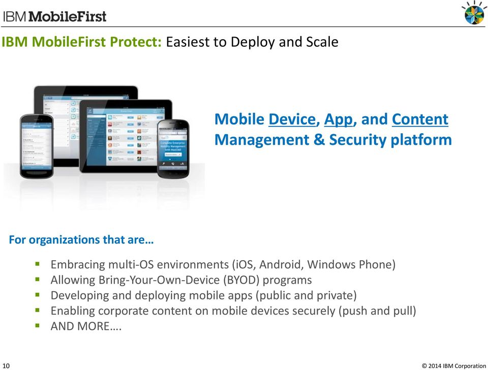 Windows Phone) Allowing Bring-Your-Own-Device (BYOD) programs Developing and deploying mobile