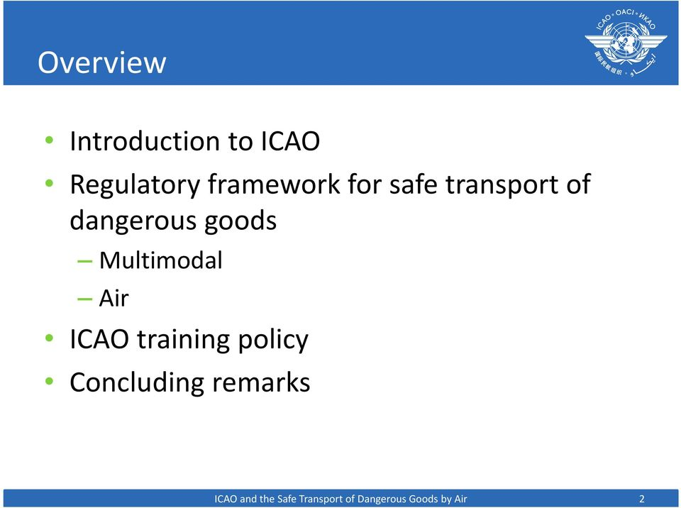 Multimodal Air ICAO training policy Concluding