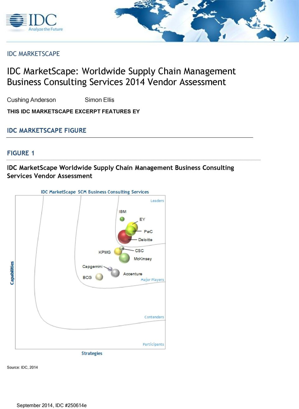 FEATURES EY IDC MARKETSCAPE FIGURE FIGURE 1 IDC MarketScape Worldwide Supply Chain