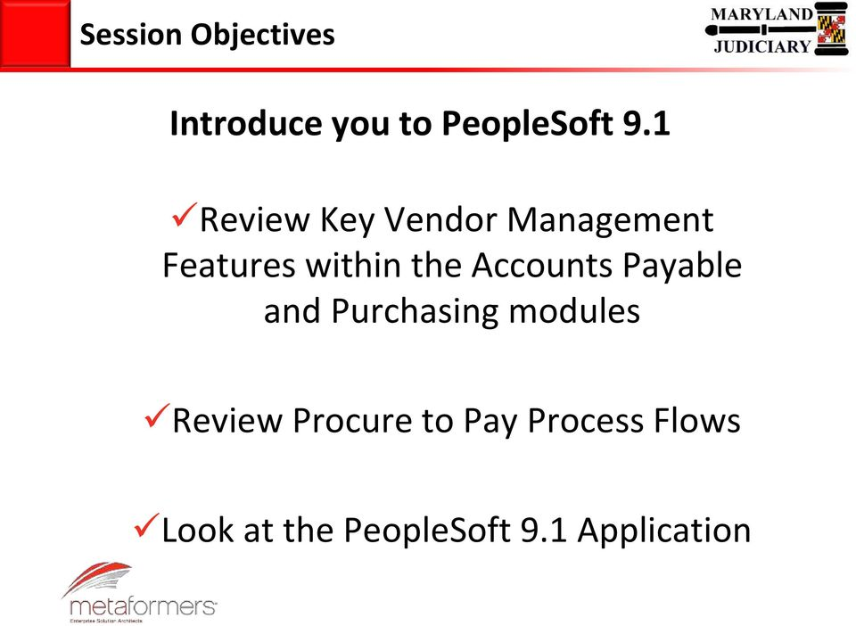 Accounts Payable and Purchasing modules Review