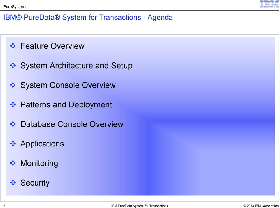 System Console Overview Patterns and Deployment