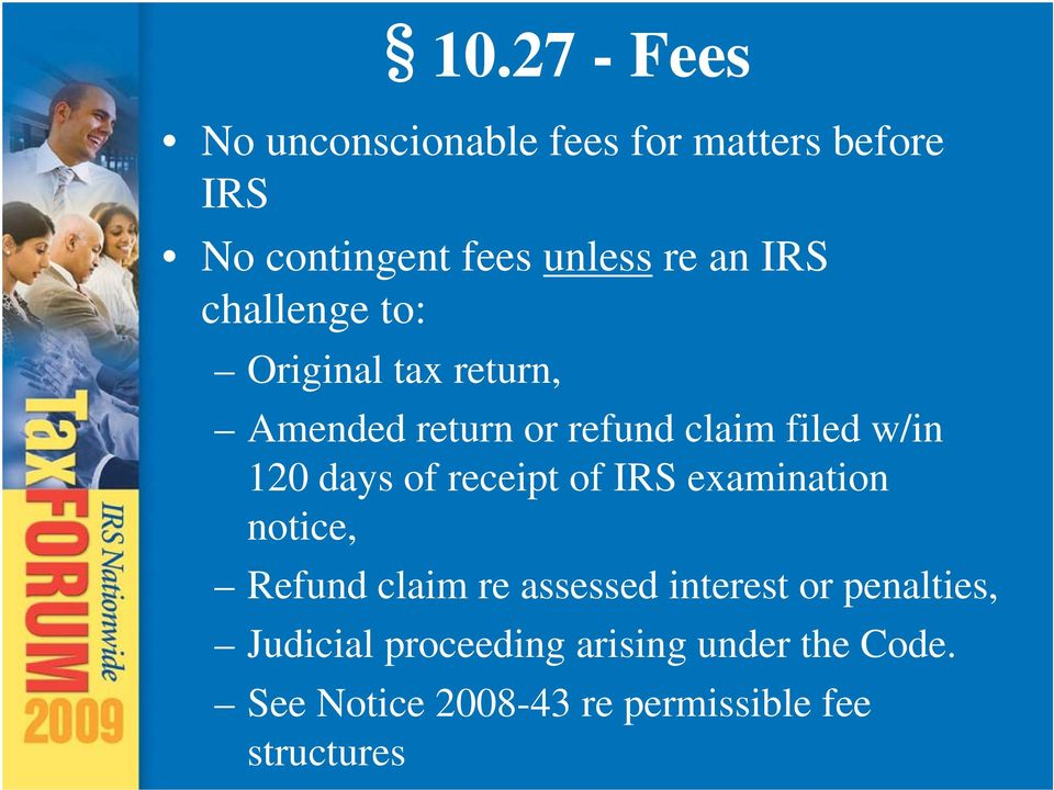 IRS challenge to: Original tax return, Amended return or refund claim filed w/in 120 days