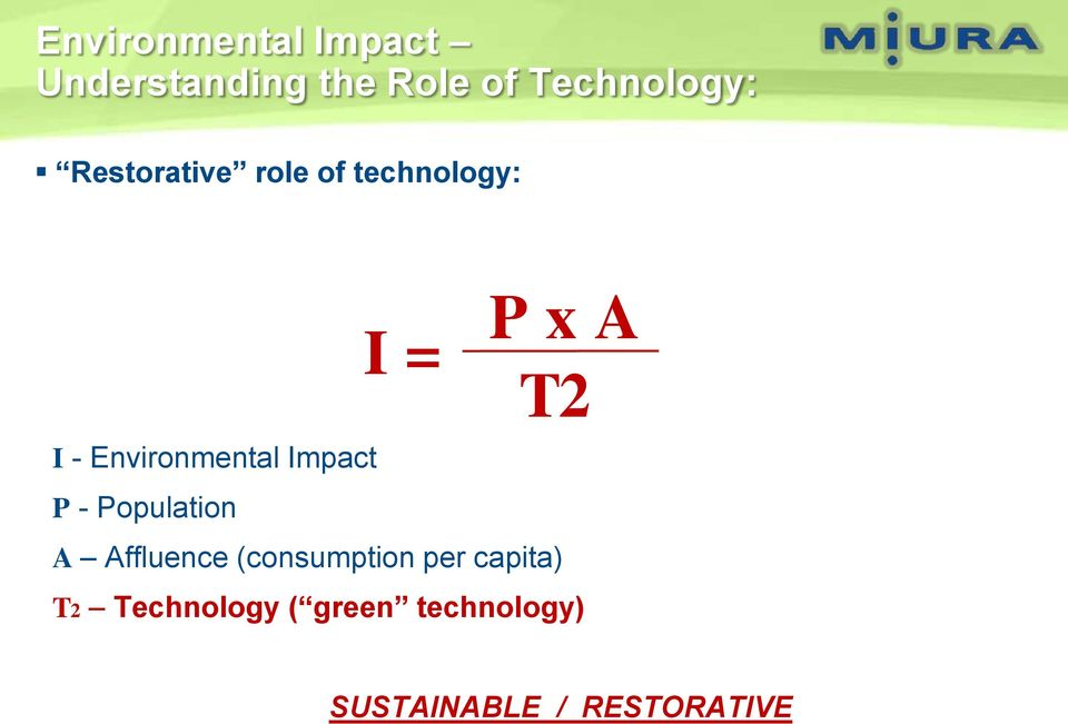 Environmental Impact P - Population A Affluence