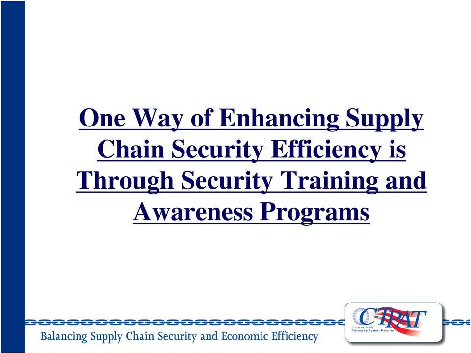 Enhancing Supply Chain Security Efficiency is