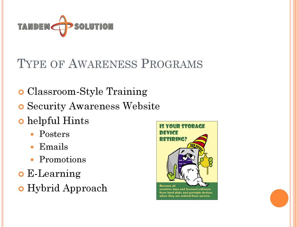 Awareness Website helpful Hints