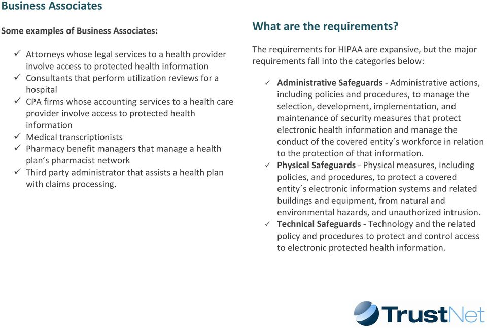 health plan s pharmacist network Third party administrator that assists a health plan with claims processing. What are the requirements?