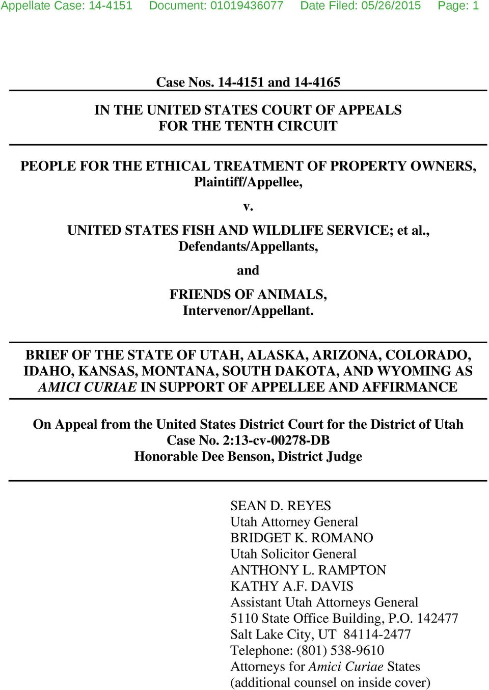 UNITED STATES FISH AND WILDLIFE SERVICE; et al., Defendants/Appellants, and FRIENDS OF ANIMALS, Intervenor/Appellant.
