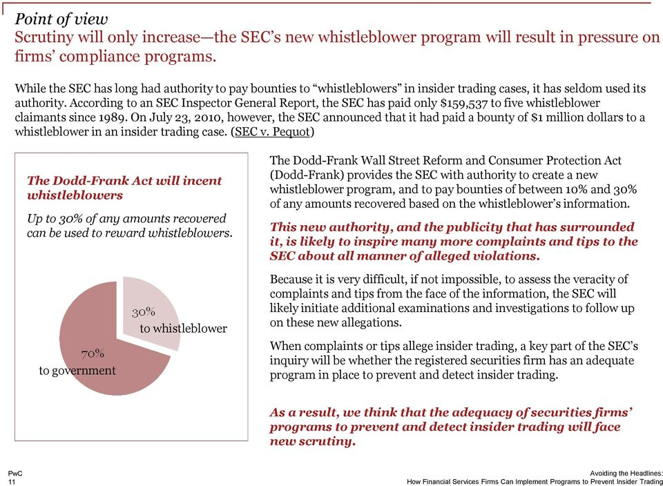 According to an SEC Inspector General Report, the SEC has paid only $159,537 to five whistleblower claimants since 1989.
