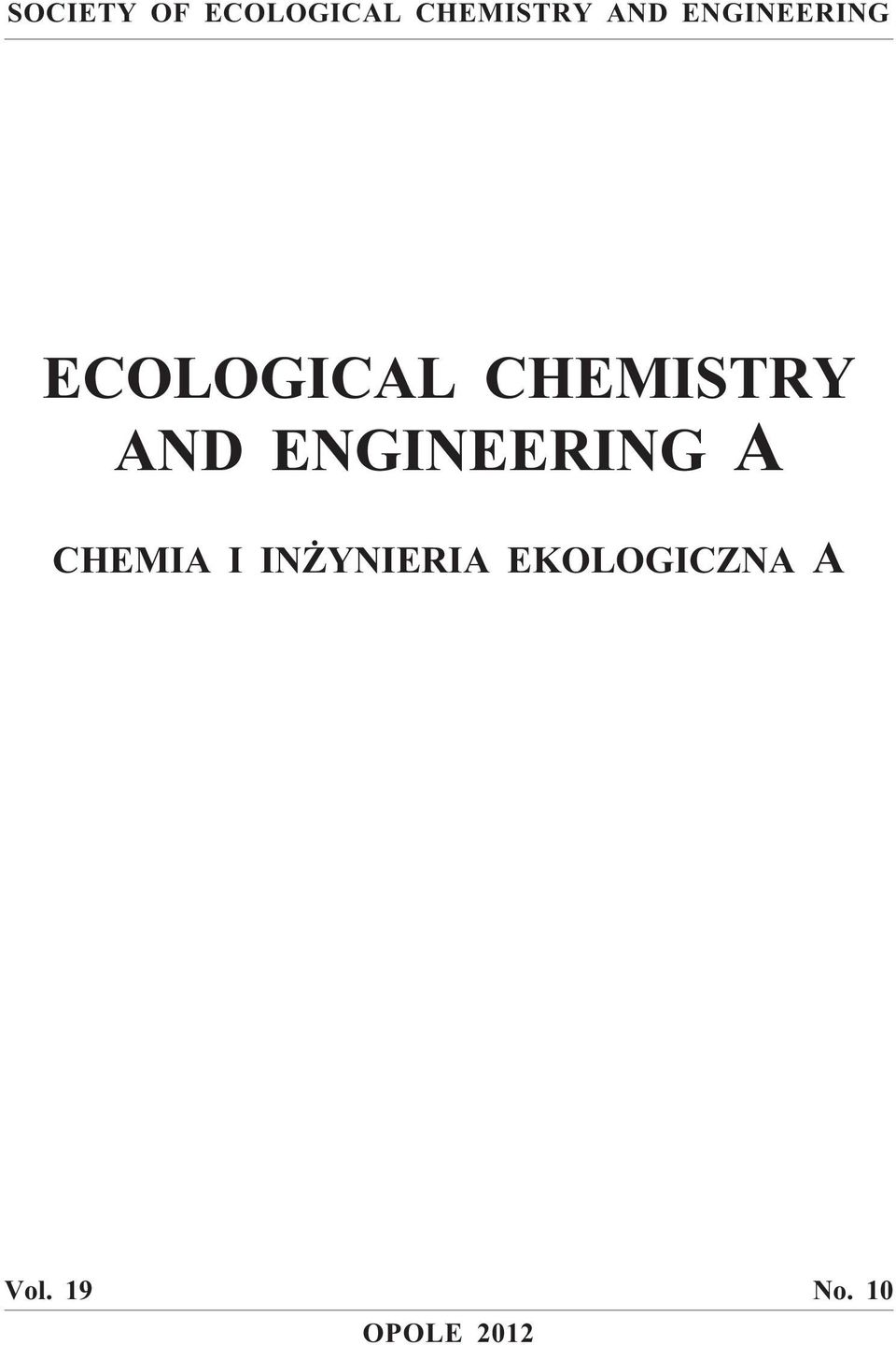 ENGINEERING A CHEMIA I IN YNIERIA