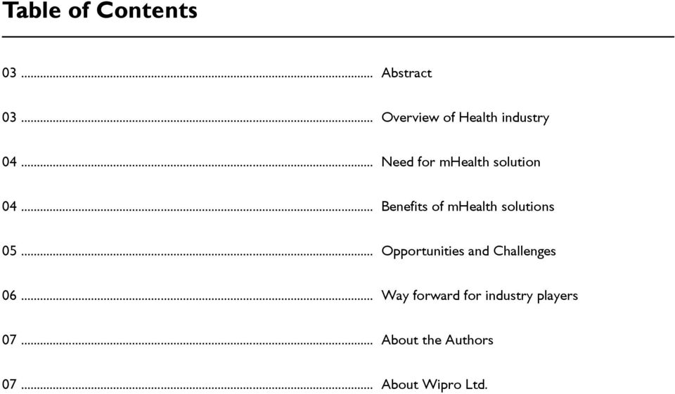 .. Benefits of mhealth solutions 05.