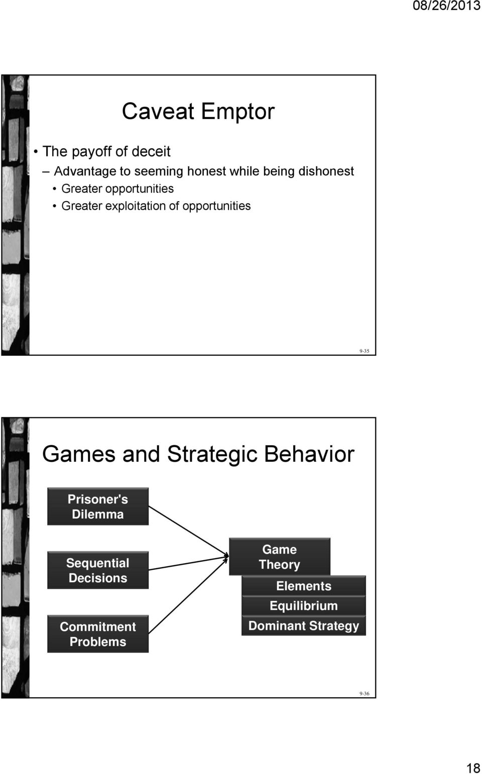 Games and Strategic Behavior Prisoner's Dilemma Sequential Decisions
