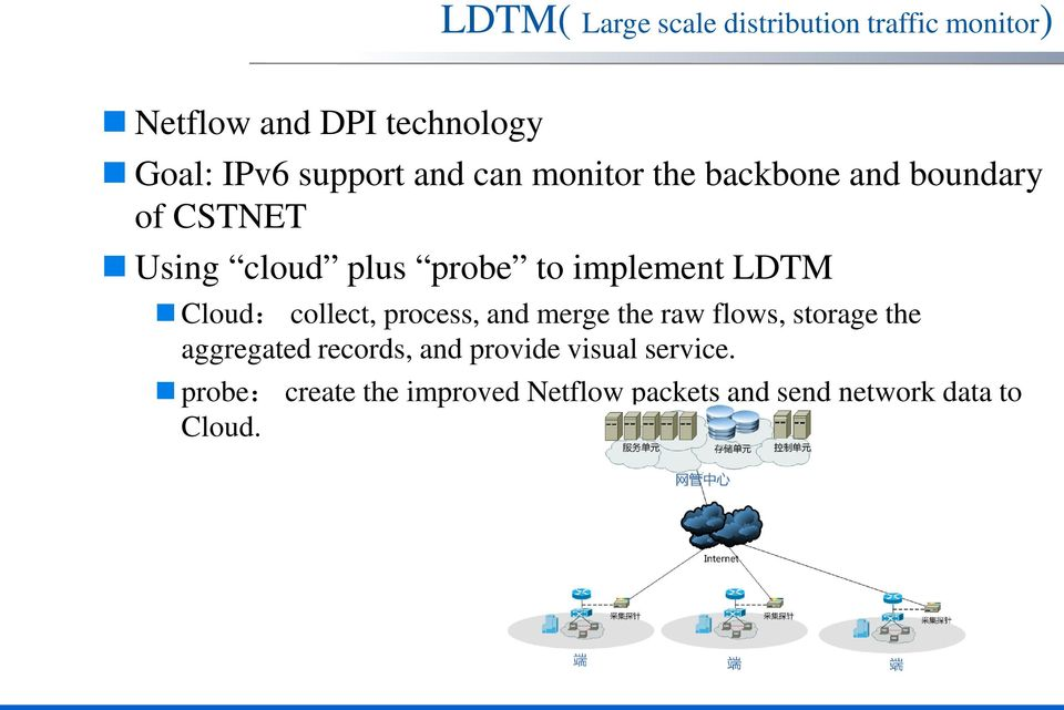implement LDTM Cloud: collect, process, and merge the raw flows, storage the aggregated