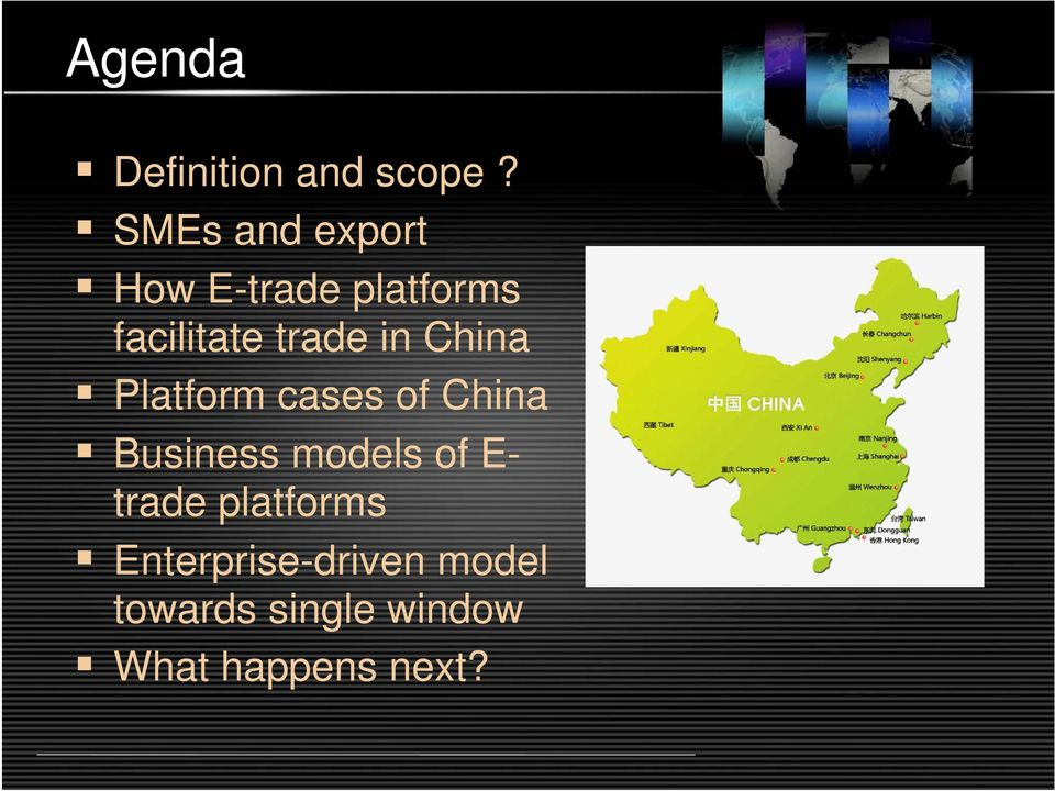 in China Platform cases of China Business models of E-