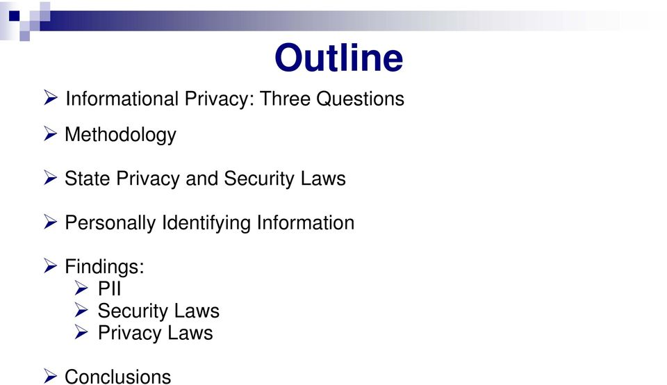 Security Laws Personally Identifying