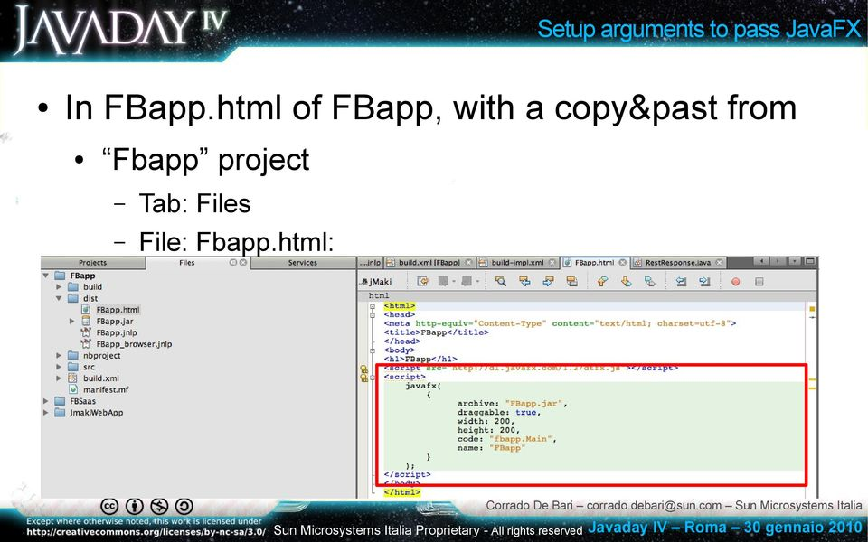 html of FBapp, with a