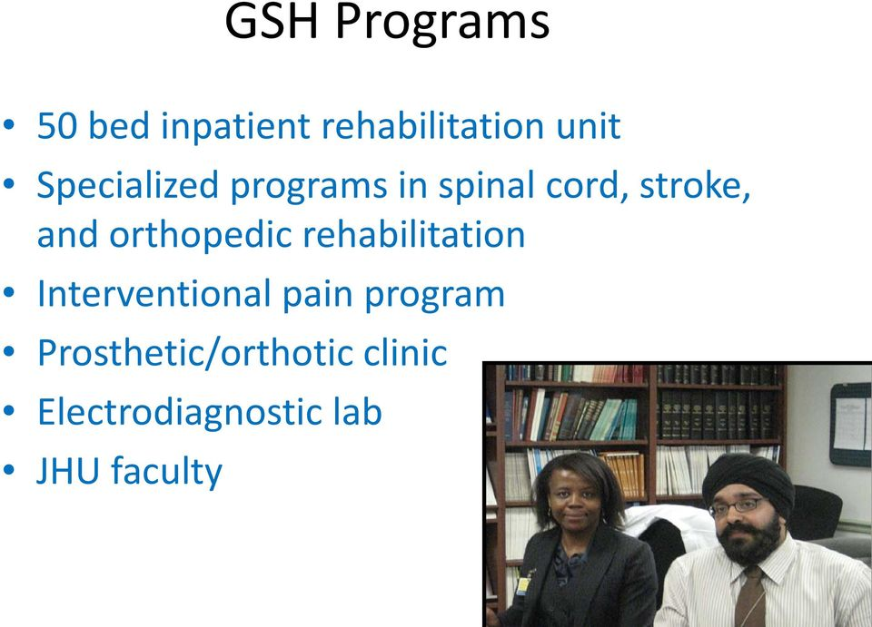 orthopedic rehabilitation Interventional pain program