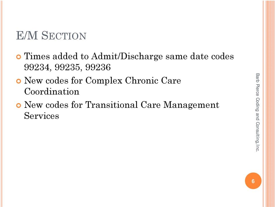 codes for Complex Chronic Care Coordination