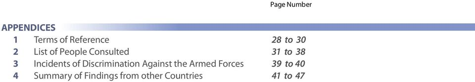 Against the Armed Forces 4 Summary of Findings