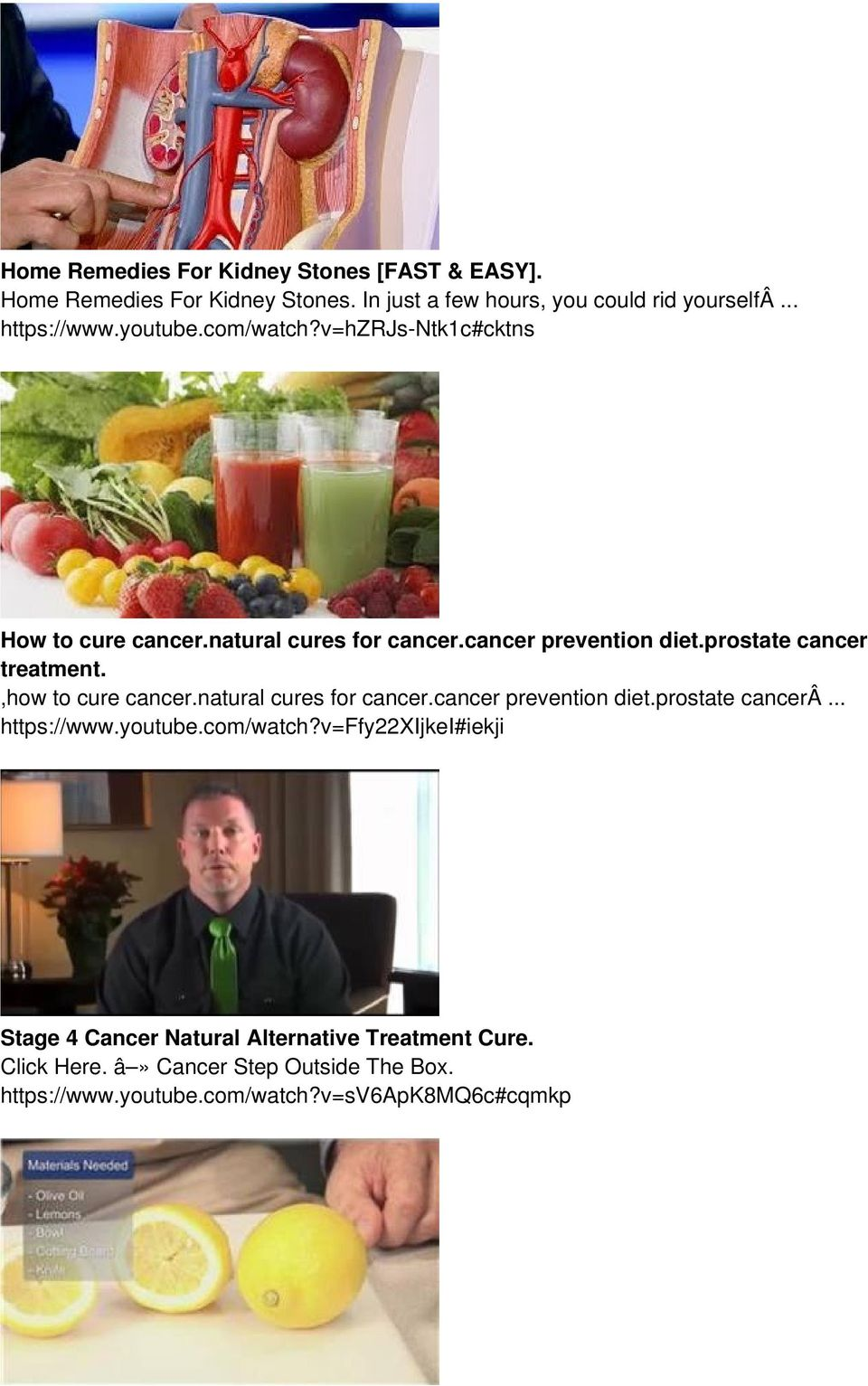 ,how to cure cancer.natural cures for cancer.cancer prevention diet.prostate cancerâ... https://www.youtube.com/watch?
