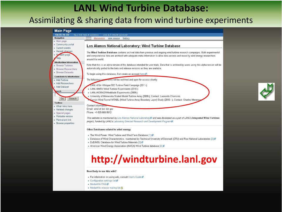 from wind turbine