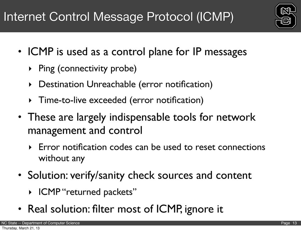 indispensable tools for network management and control Error notification codes can be used to reset connections