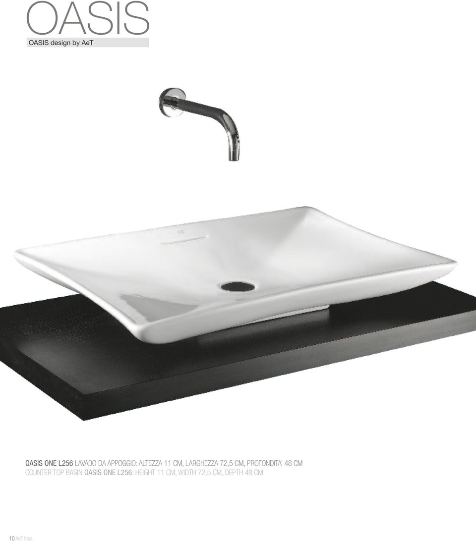 PROFONDITA 48 CM COUNTER TOP BASIN OASIS ONE