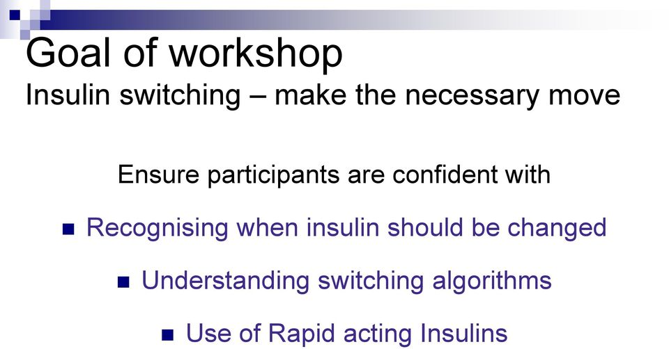 with Recognising when insulin should be changed