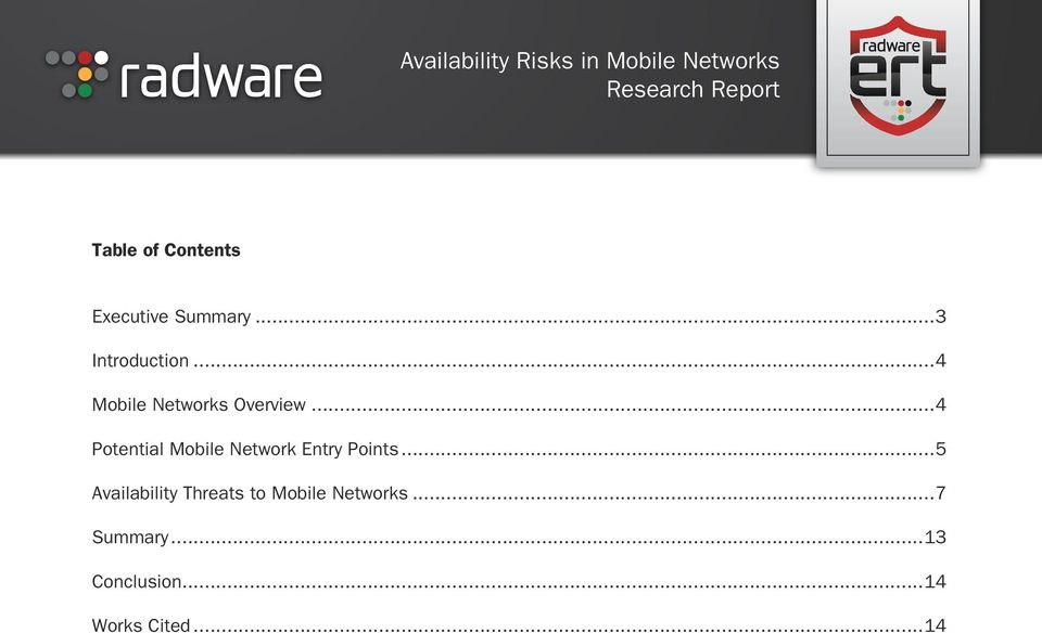 ..4 Potential Mobile Network Entry Points.