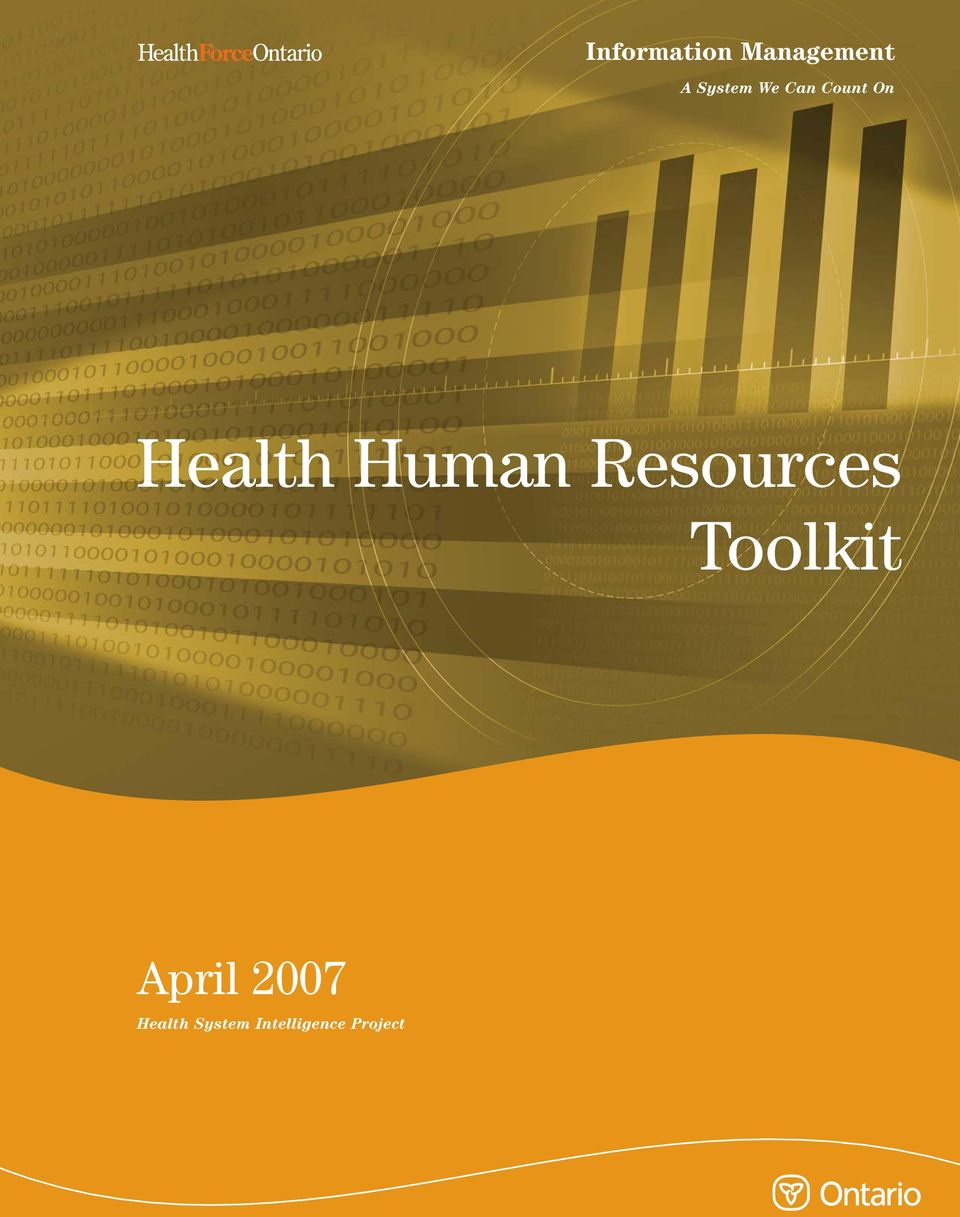 Toolkit April 2007 Health System