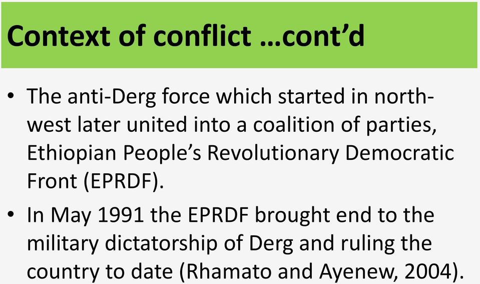 Democratic Front (EPRDF).