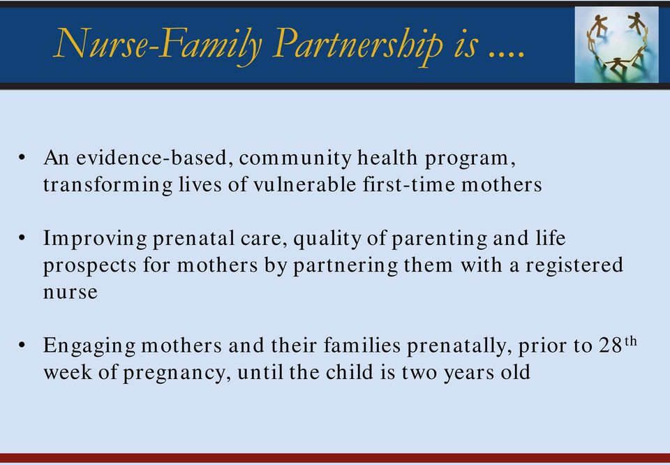 first-time mothers Improving prenatal care, quality of parenting and life prospects for