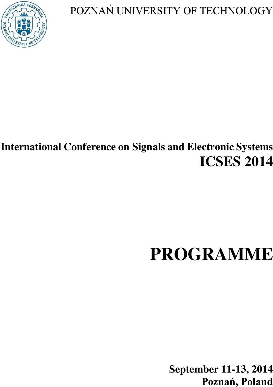 and Electronic Systems ICSES 2014