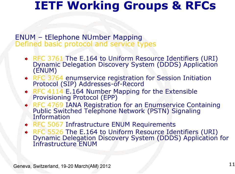 Addresses-of-Record RFC 4114 E.